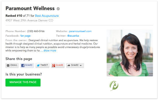 erika schultz best acupuncturists in denver screenshot